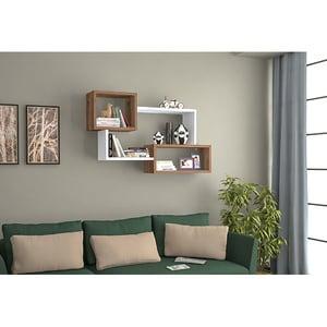 Raft perete Cadelin, 87 x 22 x 54 cm, alb-nuc