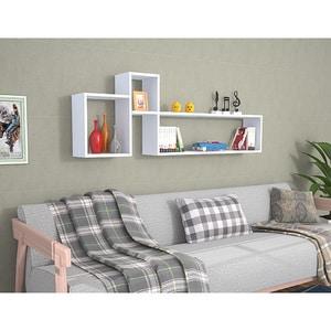 Raft perete Polite, 155 x 22 x 55 cm, alb