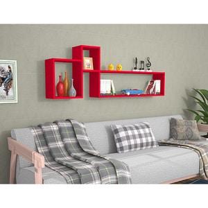 Raft perete Polite, 155 x 22 x 55 cm, rosu