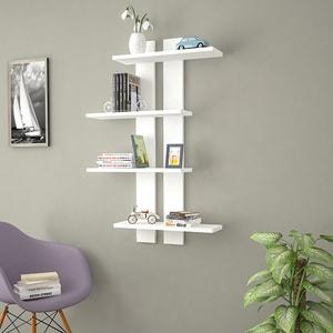 Raft perete Slim, 100 x 17 x 70 cm, alb