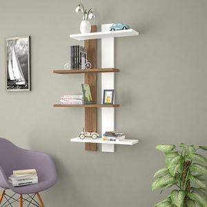 Raft perete Slim, 100 x 17 x 70 cm, alb-nuc