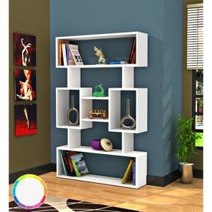 Biblioteca Amore, alb, 140 x 22 x 90 cm