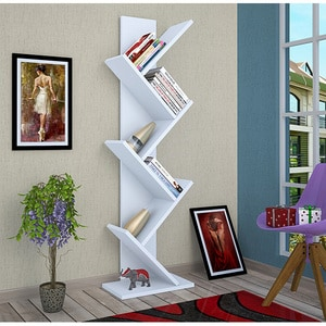 Biblioteca Tree, alb, 12 x  22 x 135 cm