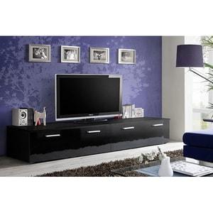 Set 2 comode TV GENAROM Duo 23 ZZ DU, negru, 200 x 45 x 35 cm