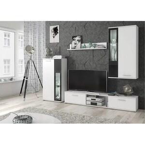 Mobila living GENAROM Wow 29 WS WW, alb, 255 x 30 x 180 cm