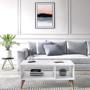 Masuta cafea Vega, alb, 90 x 55 x 40 cm