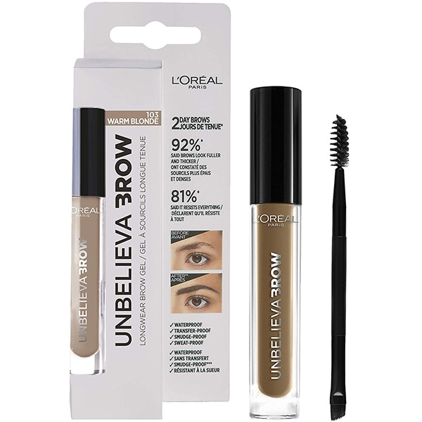 Gel pentru sprancene L'OREAL PARIS Unbelieva Brow, 103 Warm Blonde, 3.4ml