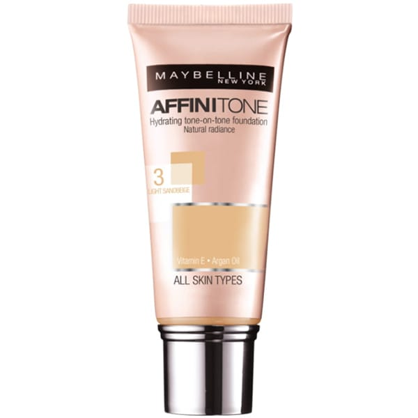 Fond de ten MAYBELLINE NEW YORK Affinitone, 03 Light Sandbeige, 30ml