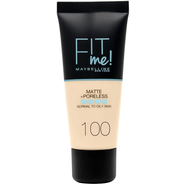 Fond de ten MAYBELLINE NEW YORK Fit Me Matte&Poreless, 100 Warm Ivory, 30ml