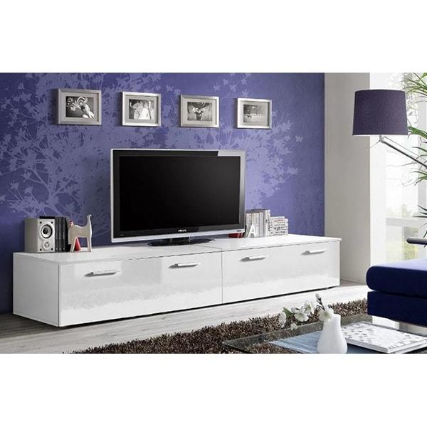 Set 2 comode TV GENAROM Duo 23 WW DU, alb, 200 x 45 x 35 cm