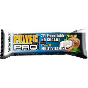 Baton energizant NATURE TECH Power Pro Plus cocos, 80g, 6 bucati
