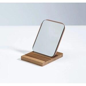 Oglinda cosmetica SPIN Mismo Utility, 15 x 13 cm, Cloud Pink