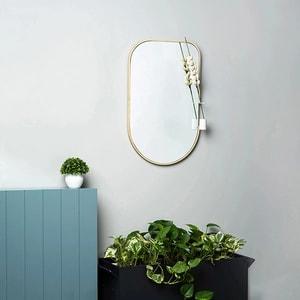 Oglinda decorativa Mismo, 35 x 55 cm, alb