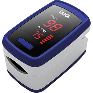 Pulsoximetru LAICA EA1007, baterie, alb-albastru