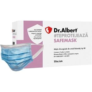 Set masti de protectie DR. ALBERT FM-2303, 3 straturi, 50 bucati, albastru