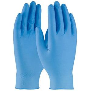Manusi de unica folosinta GOLDGLOVE Blue Powder Free, latex, marime S, 100 buc