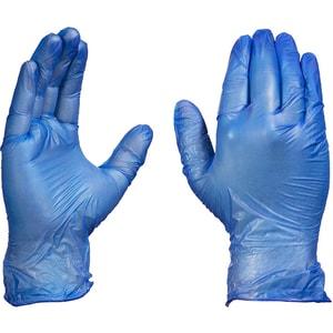 Manusi de unica folosinta GOLDGLOVE Blue Powdered, vinil, marime XL, 100 buc