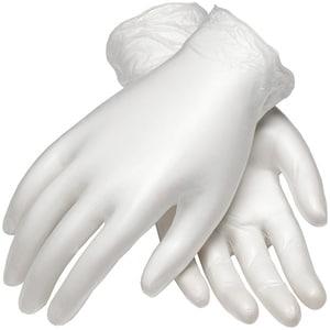 Manusi de unica folosinta GOLDGLOVE White Powdered, vinil, marime XL, 100 buc