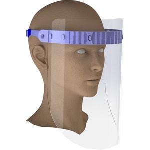 Viziera protectie EKUPPA, ecran rabatabil, policarbonat, transparent
