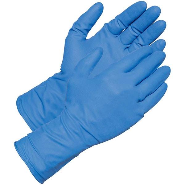 Manusi de unica folosinta GOLDGLOVE Blue Powder Free, nitril, marime S, 100 buc
