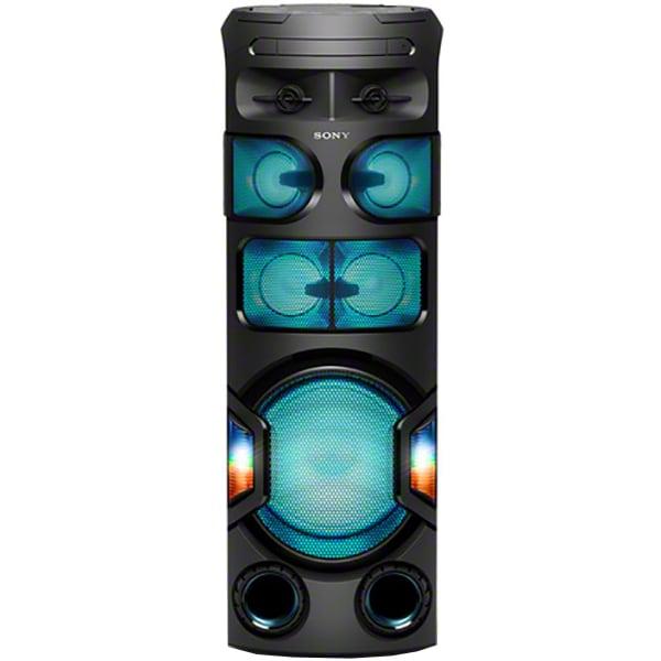 Sistem audio High Power SONY MHC-V82D, Bluetooth, NFC, USB, DVD, FM, Party speaker, Sunet 360 grade, Iluminare, negru