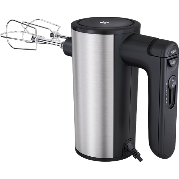 Mixer de mana WMF Kult X 416560011, 400W, 5 trepte viteza, argintiu-negru