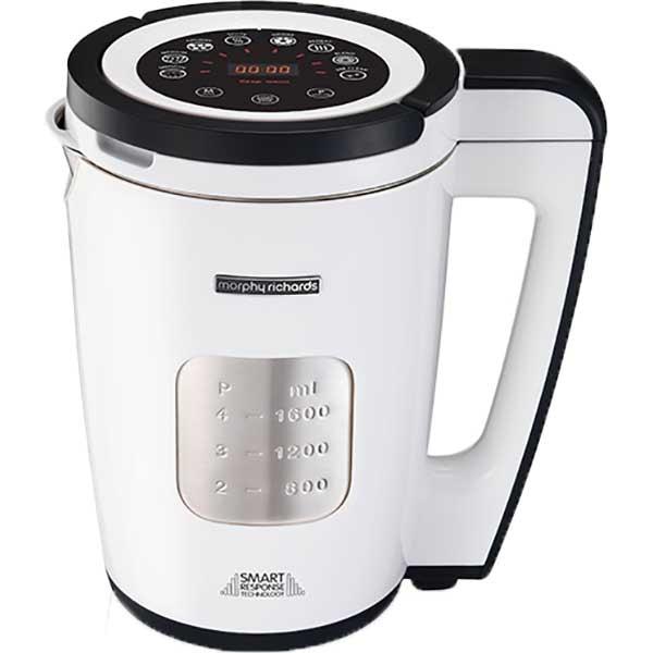 Blender cu functii de gatire (Soup Maker) MORPHY RICHARDS Total Control 501020, 1.6l, 1100W, alb-argintiu