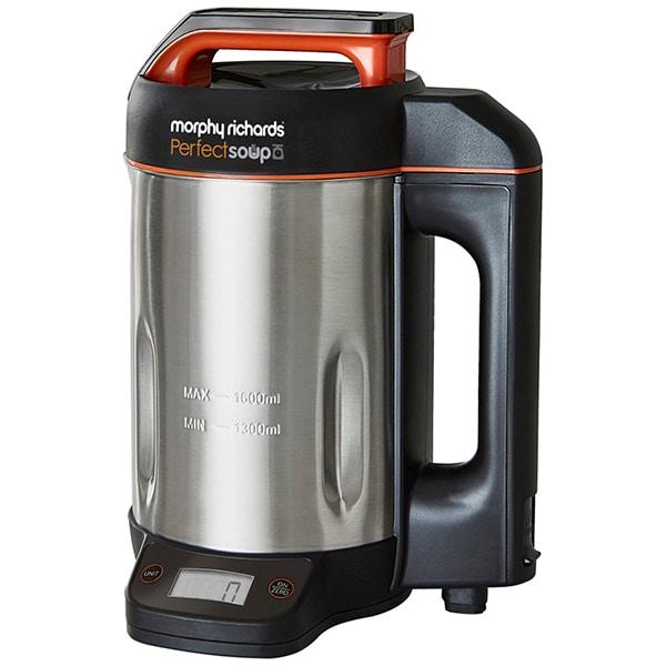 Blender cu functii de gatire (Soup Maker) MORPHY RICHARDS Perfect Soup 501025, 1.6l, 1000W, argintiu-negru