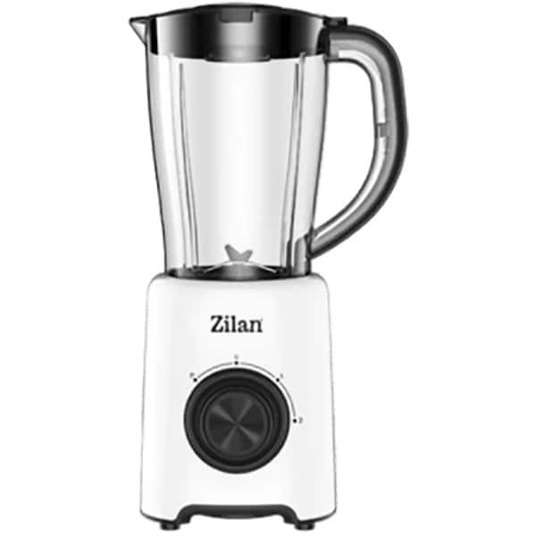 Blender ZILAN ZLN3703, 1.5l, 500W, 2 trepte viteza, alb-negru