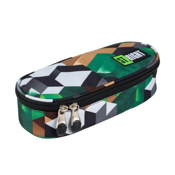 Penar oval MAJEWSKI St. Right PC01 Green 3D Blocks, multicolor
