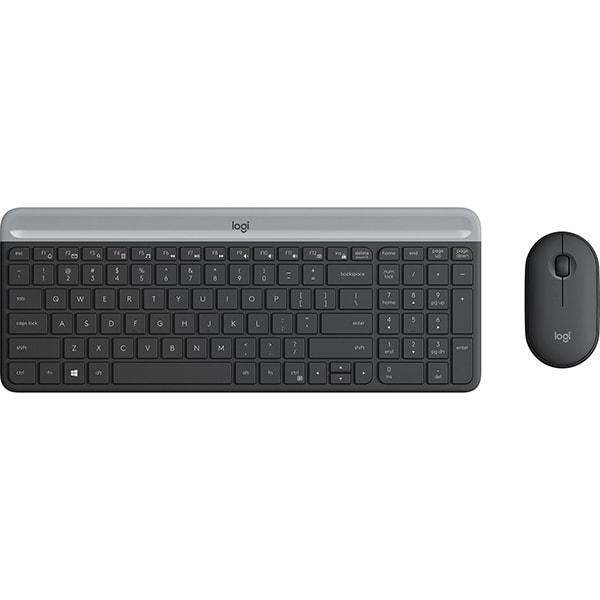 Kit tastatura si mouse Wireless LOGITECH MK470 Slim, USB, Layout US INT, negru grafit