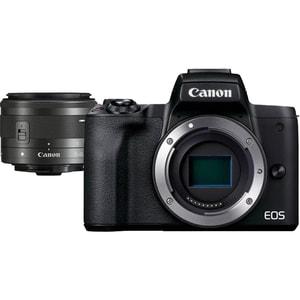 Aparat foto mirrorless CANON EOS M50 II,24.1 MP, 4K, Wi-Fi, negru + Obiectiv M15-45 IS