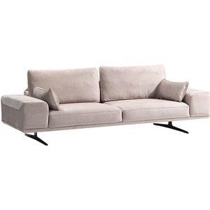 Canapea fixa Betty, 3 locuri, 245 x 95 x 60 cm, bej comb