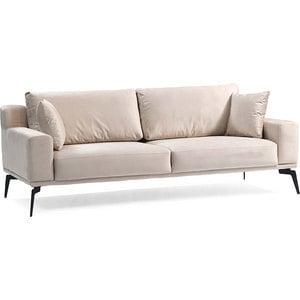 Canapea fixa Cecile 2, 3 locuri, 220 x 106 x 80 cm, bej inchis