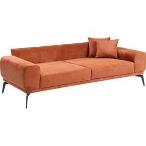 Canapea fixa Elizabeth, 3 locuri, 235 x 95 x 75 cm, caramiziu comb