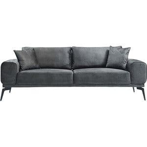 Canapea fixa Elizabeth, 3 locuri, 235 x 95 x 75 cm, maron comb