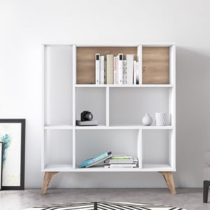 Biblioteca Frame Heron, alb, 95 x 25 x 106 cm