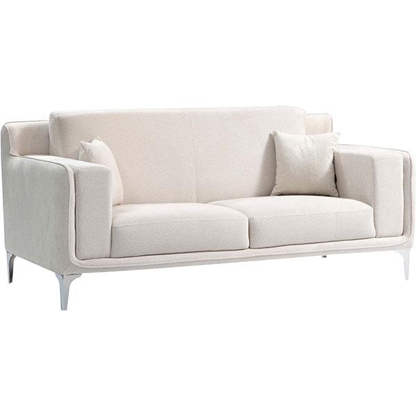 Canapea fixa Snow1, 2 locuri, 196 x 96 x 79 cm, bej comb