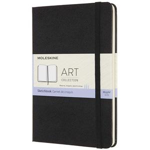 Carnet notite MOLESKINE Art Sketchbook, velina, Medium, 44 file, negru