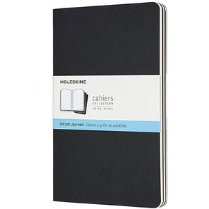 Carnet notite MOLESKINE Cahier Dot Journals, punctata, Large, 40 file, negru