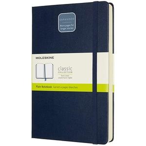 Carnet notite MOLESKINE Expanded Hard Notebook, velina, Large, 200 file, albastru