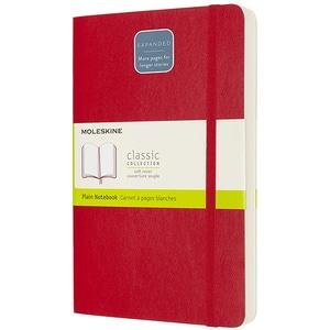 Carnet notite MOLESKINE Expanded Soft Notebook, velina, Large, 200 file, rosu