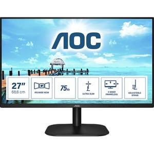 "Monitor LED IPS AOC 27B2H/EU, 27"" Full HD, 75Hz, Flicker Free, negru"