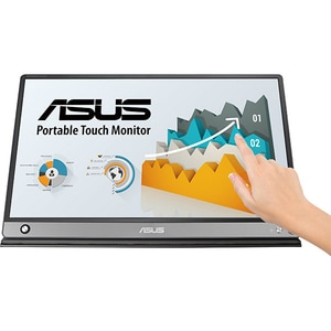 "Monitor LCD portabil ASUS ZenScreen Touch MB16AMT, 15.6"", 60Hz, Full HD, Touch screen, Flicker free, gri inchis"