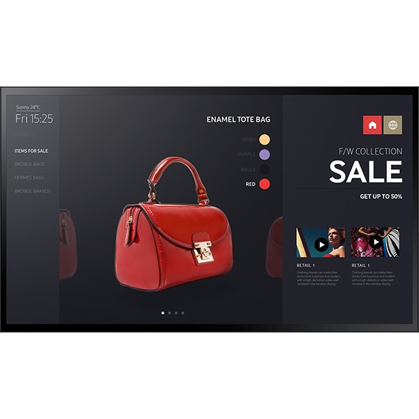 "Display profesional SAMSUNG LH55PMFXTBC, 55"" Touch, Full HD, 60 Hz, negru"