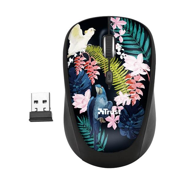Mouse Wireless TRUST Yvi Parrot, 1600 dpi, multicolor