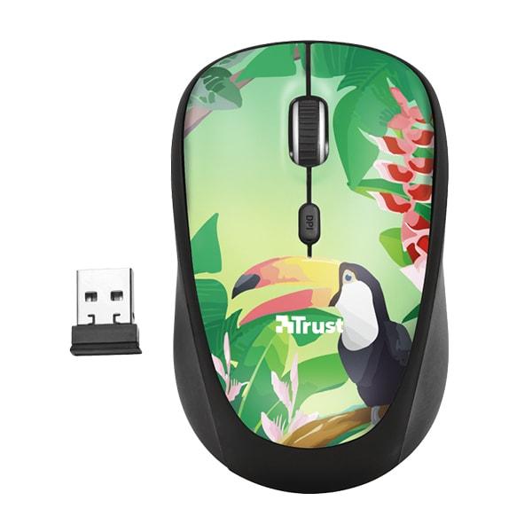 Mouse Wireless TRUST Yvi Toucan, 1600 dpi, multicolor