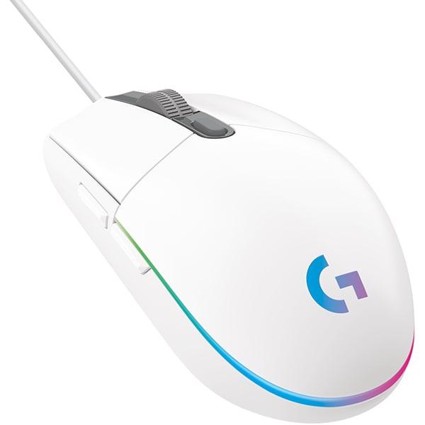 Mouse Gaming LOGITECH G102 LIGHTSYNC, 8000 dpi, alb