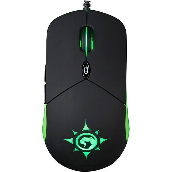Mouse Gaming MARVO G911, 6000 dpi, negru-verde
