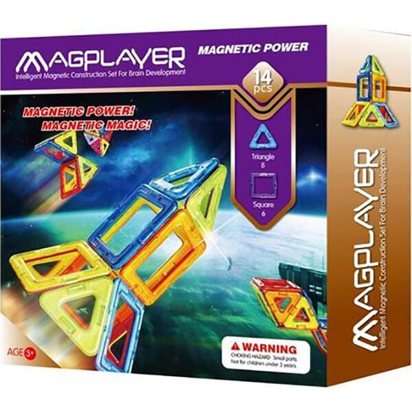 Joc constructie magnetic MAGPLAYER MPB-14, 3 ani+, 14 piese
